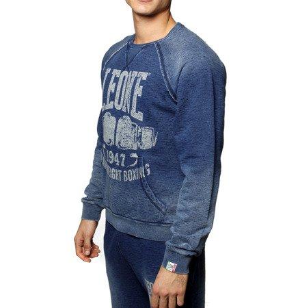 """LEONE - BLUZA SPORTOWA """"jeans"""" S [LSM1525_niebieska]"""