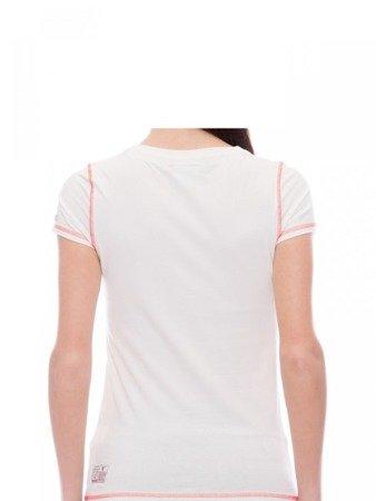 LEONE T-shirt damski biały S [LW1755]