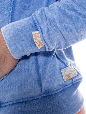 LEONE bluza męska na zamek z kapturem błękitna M [LSM1690]