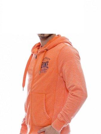 LEONE bluza męska na zamek z kapturem pomarańczowa M [LSM1690]