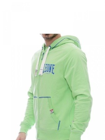 LEONE bluza męska na zamek z kapturem zielona M [LSM1658]
