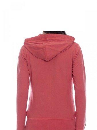 LEONE damska bluza na zamek z kapturem papryka XS [LW1758]