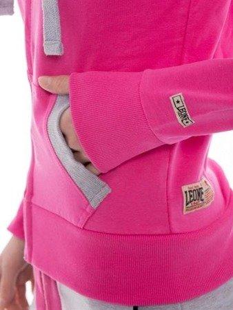 Leone - bluza rozpinana z kapturem - różowy